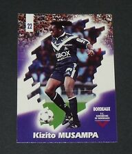 PANINI FOOTBALL CARD 98 1997-1998 KIKI MUSAMPA GIRONDINS BORDEAUX LESCURE