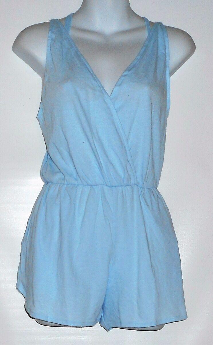 Victoria's Secret Pink Credver Romper & Daisy Lace Bralette Daydream bluee S