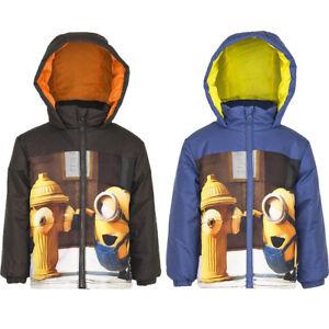 97b30fcbb New Winter Jacket Hood Boys  Jacket Minions Casual Jacket Blue Brown ...