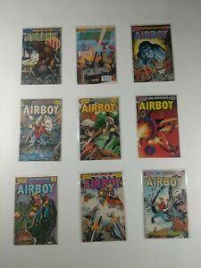 Lot Of 9 Eclipse Comics Airboy Comic Book Birdie Skywolf Arctic Deathzone