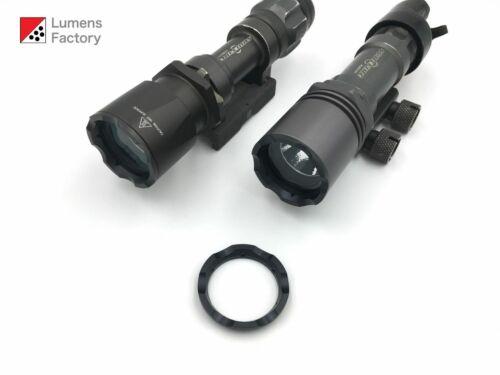 M2 M951 M952 8AX 8NX QPQ Black Steel Crenelated Bezel for Surefire Z32 Bezel