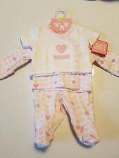 Baby Girls Clothes~3 Piece Set~ Pants & Shirts Gift Set Newborn Preemie NWT