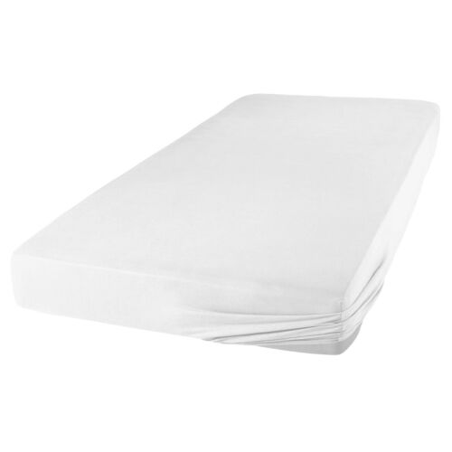 2er Rund Bettlaken Spanbetttuch Spannbettlaken Weiß und Rot