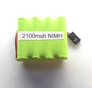 Compatible Futaba 4.8 V Haute Capacité 2100 Mah Nimh Tx Batterie Nouveau-afficher Le Titre D'origine CoûT ModéRé