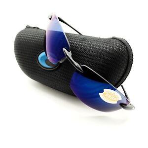 0f576bd251 Costa Del Mar Ballast Black Blue Mirror 580P New Polarized Authentic ...