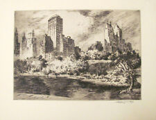 Nat Lowell Central Park New York Etching