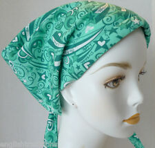 Ovarian Cancer Awareness Hat Chemo Hairloss Scarves Turban 100% Cotton Head Wrap