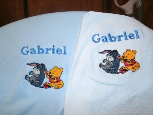 Pooh /& Eeyore Bib /& Blanket Combo Set  Baby Infant Toddler Blue Set
