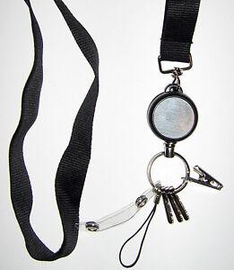 1 Retractable Lanyard Badge Reel Heavy Duty KeyChain Breakaway Safety Neck Strap