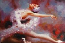 "IMPRESSIONISM BALLERINA BALLET 8x12"" Stretched Canvas Art Print"