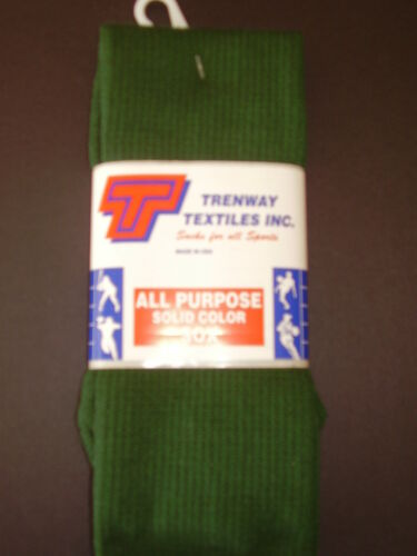 Trenway All Purpose Tube Socks Youth Green Sock Size 6-8.5