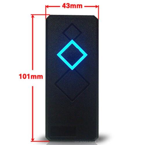 Waterproof Door Access Control Wiegand 26 RFID ID Card Reader Black 125KHz