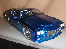 Toy Jada Dub Bigtime1:24 Blue 1971 Pontiac GTO Judge Hot Rod Diecast Car