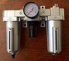 "3/4"" Air Filter Regulator Lubricator 3 pcs FRL"