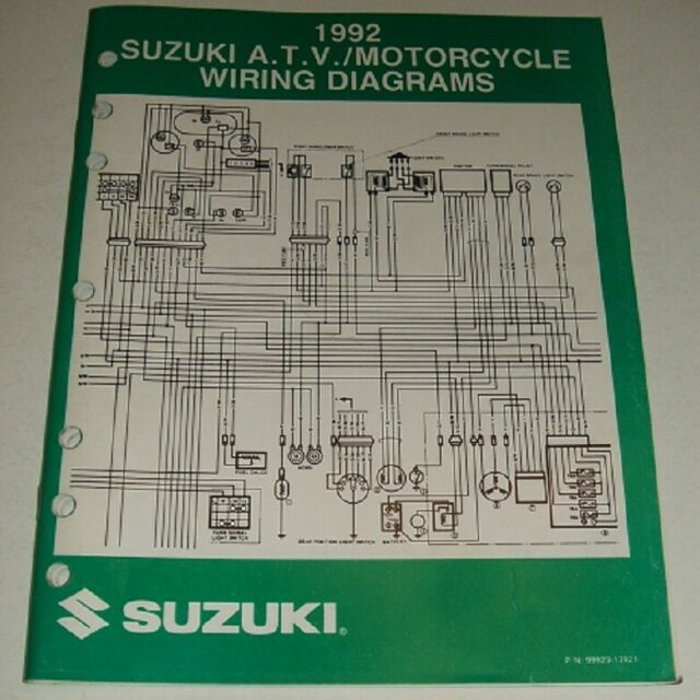 1992 Suzuki Wiring Diagram Manual Gsxr Gsx Dr Vs Gs Vs 125
