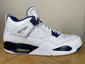 Men's Nike Air Jordan 4 IV Retro LS Columbia White Legend Blue Sz 14 314254-107