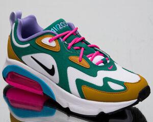 Détails sur Nike Air Max 200 Mystic Vert Femmes or Blanc Décontracté Mode de Vie Baskets