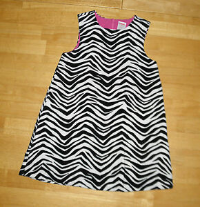Girls Gymboree 2t Zebra Print Jumper Dress Euc Black White Baby & Toddler Clothing