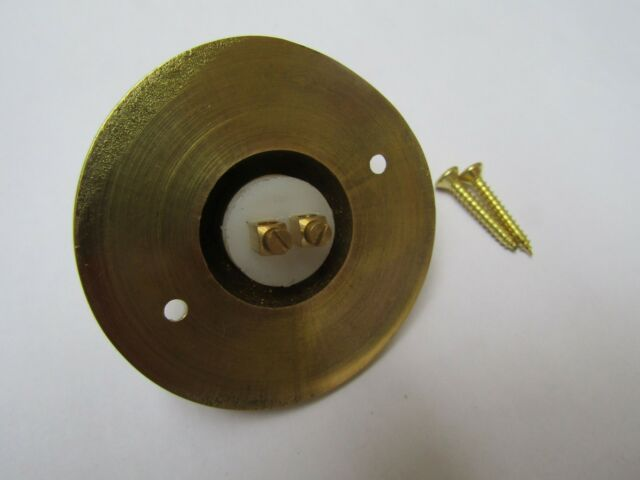 NEW DOOR BELL PUSH SATIN CHROME ON SOLID BRASS FREE UK DELIVERY wired system