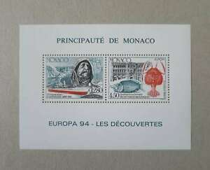 MONACO-1994-CEPT-BLOC-SPECIAL-NEUF-Maury-130-1b-Cq183