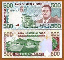 Sierra Leone / Africa, 500 Leones, 1991, P-19, UNC
