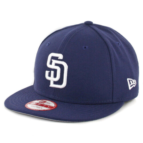 "New Era 9Fifty San Diego Padres /""Baycik/"" Snapback Hat MLB Cap Light Navy"