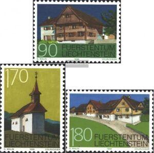 Liechtenstein-1186-1188-kompl-Ausg-postfrisch-1998-Baudenkmaeler