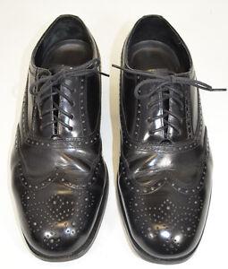 Nunn Bush Dress Flex Wingtip Shoes Black Lace Oxfords