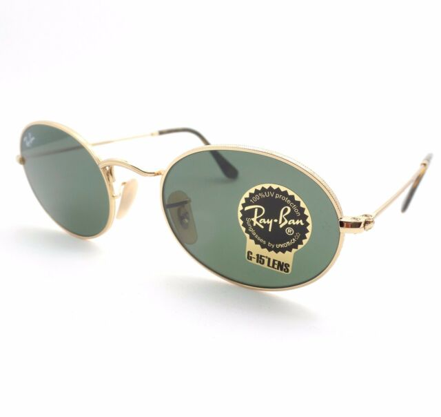 a502039a8a AUTHENTIC Ray Ban 3547 N 001 Shiny Gold Flat G15 Green New Sunglasses