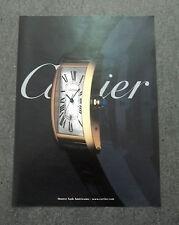 F720-Advertising Pubblicità- 2000 - CARTIER MONTRE TANK AMERICAINE