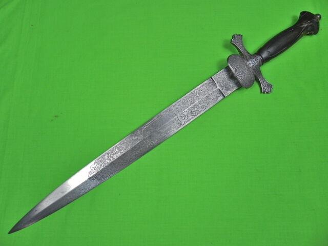Antique French France 19 Century Spanish Spain Sword Large Dagger Knife