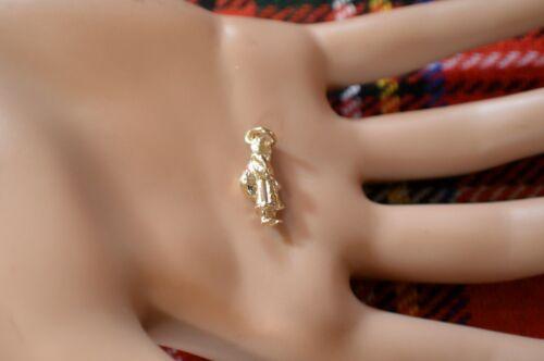 Oro 9ct nuevo encanto de Navidad Santa con saco