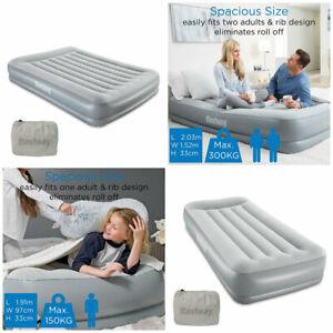 Built-in Pump Single or Queen Bestway Tri-Tech Airbed Air Bed Mattress