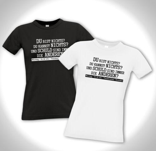 Girlie Shirt DU BIST NICHTS?.. Refugees Welcome Antifa Gegen Pegida Punk