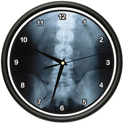 DIGITAL X-RAY Wall Clock medicine doctor x ray bones testing surgeon gag gift