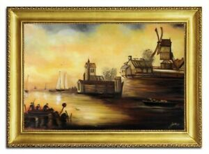 Oil-Painting-Pictures-Hand-Painted-with-Frame-Baroque-Art-G96467