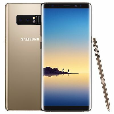 Samsung Galaxy Note 8 Duos SM-N950F/DS 64GB (FACTORY UNLOCKED) Black Gold Gray