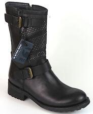 G-STAR RAW Kurz Stiefel 39 LEDER Foundry Footwear Schwarz Boots Stiefelette NEU