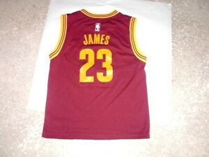 Details about Cleveland Cavaliers LEBRON JAMES Adidas Wine Gold Basketball Jersey youth Medium