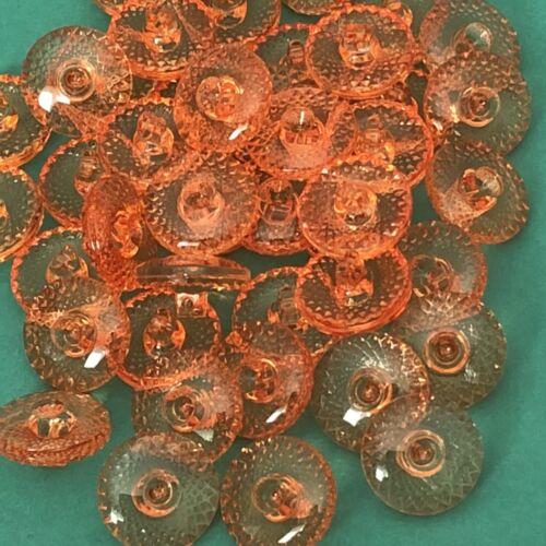 10 x 15 mm Orange Tige Boutons #1261