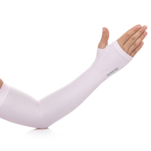 Aonijie E4039 Soft Cool Compression Arm Sleeve UPF50 With Finger Hole For Sport