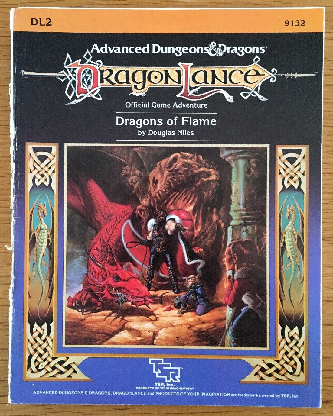 Advanced Dungeons & Dragons DL2 Dragonlance Dragons Of Flame TSR 9132