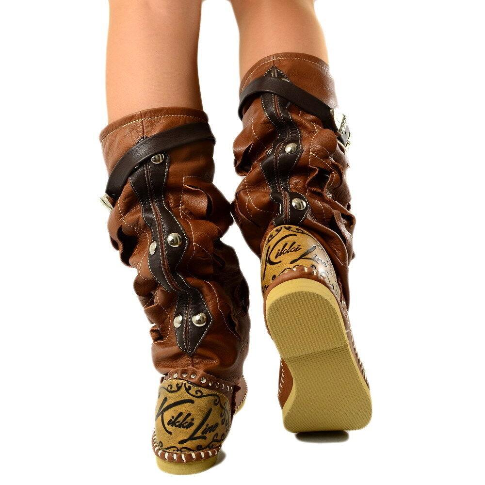 Damen Indianer MADE Stiefel Stiefel Ibiza Stiefel MADE Indianer IN ITALY Echtleder KIKKILINE Romy 0a04e1