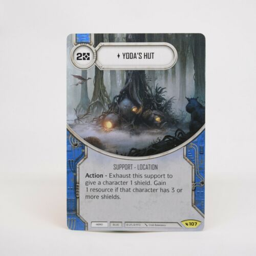 Star Wars Destiny Legacies Yoda/'s Hut #107 Uncommon Hero Force Support