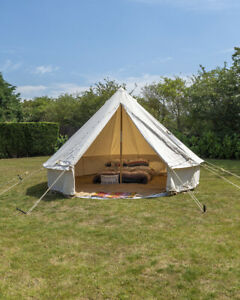 best service 669b6 8c837 Details about 4M CANVAS BELL TENT BUSHCRAFT CAMPING SCOUT REENACTMENT  GROUNDSHEET INCLUDED