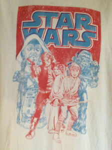 STAR-WARS-CHARACTERS-JUNK-FOOD-LUKE-LEIA-VADER-LARGE-T-SHIRT-OUT-OF-PRINT