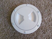 Viking Marine Boat Rv White 4 Access Hatch Cover Twist Out Deck Plate Screws