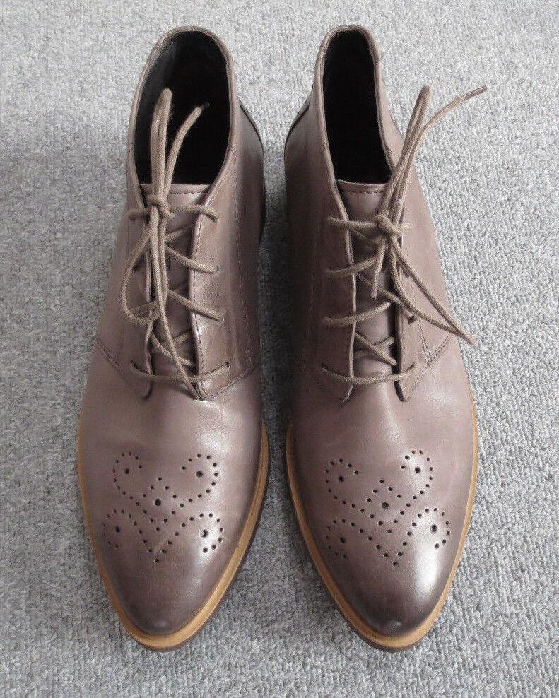 Paul Budapester Grün Schuhe Leder Lederschuhe Schnürer taupe braun spitz Budapester Paul 5 1/2 e7461b