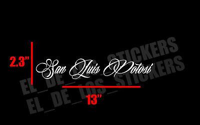 Mexico escudo Car Window Vinyl Sticker Decal Gobierno de Mex SLP San Luis Potosi