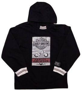 HARLEY DAVIDSON Women's Sweatshirt Hoodie V-Rod Black Medium 12-14